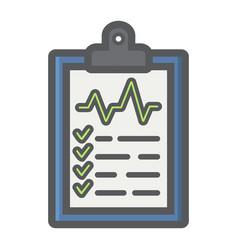 medical clipboard filled outline icon medicine vector image