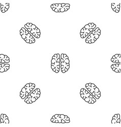 mind brain pattern seamless vector image