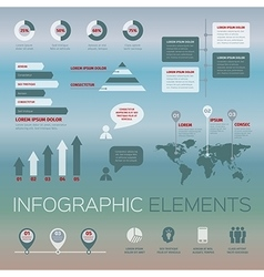 Modern set of infographic elements vector
