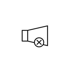 mute no sound icon vector image
