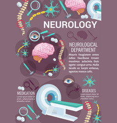 Neurology disease diagnostic clinic banner design vector