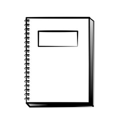 notebook doodle on white background vector image