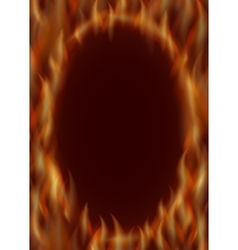 Oval frame of fire vector