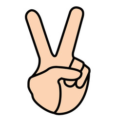 peace hand symbol vector image
