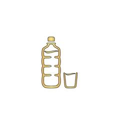 Plastic bottle computer symbol vector