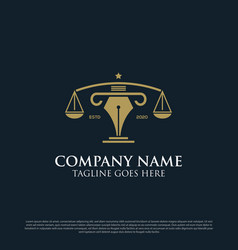 Professional attorney consultant logo can use vector