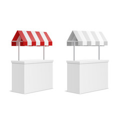 Promotion counter 3d exhibition stand mockup with vector