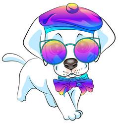 Puppy dog labrador retriever vector