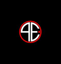 Q e letter logo creative design on black color vector