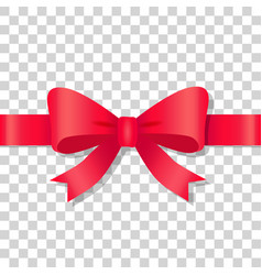 Red bow icon on transparent background holiday vector