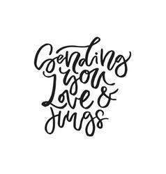 Romantic handdrawn lettering vector