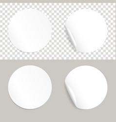 round white realistic stickers vector image