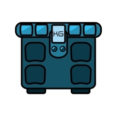 scale balance gym equipment icon vector image