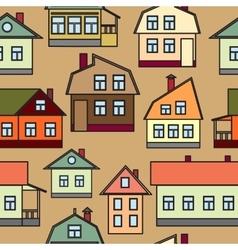Seamless texture of urban homes Dense buildings vector