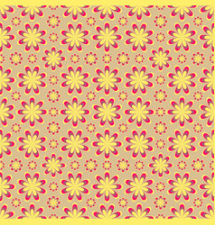 Seamless yellow flower pattern vector