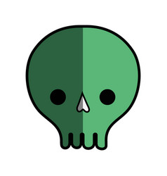 Skull danger symbol to caution alert vector