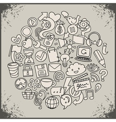 social network symbols vector image