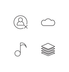Sosial media linear icons set simple outline icons vector