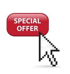 Special Offer Button Click vector image