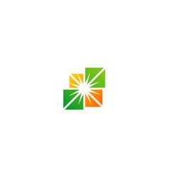 Square colored shine logo vector