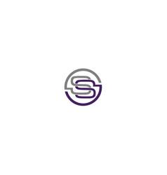 Ss circle logo design vector