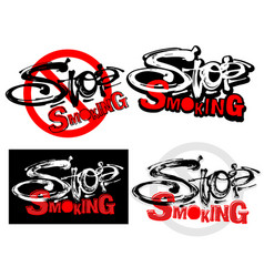 Stop smoking motivation inscription health vector