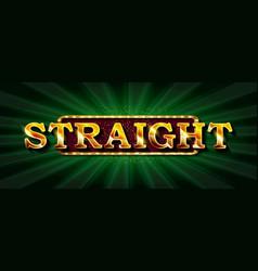 straight online poker casino vector image
