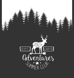 summer adventures club label template retro vector image