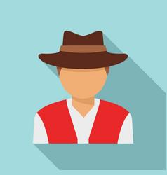Swiss man icon flat style vector
