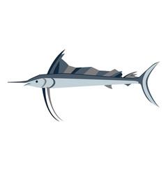 Swordfish flat on white vector
