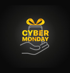 the cyber monday concept vector image