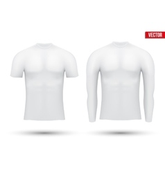Thermal underwear layer compression shirt vector image