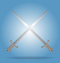 Two crossed swords with high detailed vector