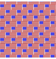 USA flag pattern vector image