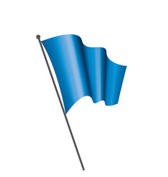 waving the blue flag on a white background vector image