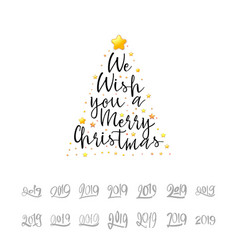 We wish you a merry christmas festive banner on a vector