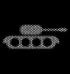 white dot military tank icon vector image