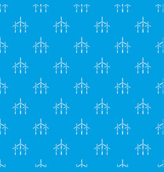 wind generator turbines pattern seamless blue vector image