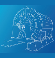wire-frame of engine unit oil vector image