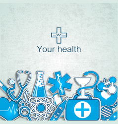 Your health background vector