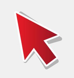 arrow sign new year reddish vector image