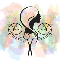 beauty salon for women symbol vector image vector image