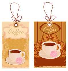 Cup of coffee with abstract design elements set vector image vector image