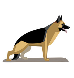 german shepherd minimalist image vector image