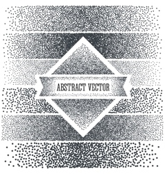 Halftone Background with Dots Dotwork Engraving vector image vector image