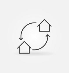 House exchange icon vector