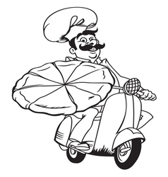 Italian pizza delivery2 resize vector image vector image