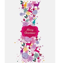 Merry Christmas multicolors postal card vector image