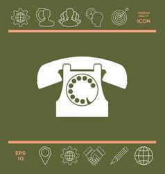 retro telephone symbol vector image