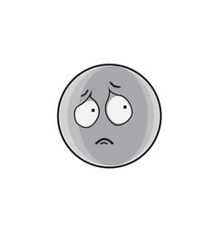 sad cartoon face expression people emoticon emoji vector image